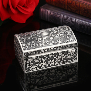 Custom Drawing Ordering Personalized Accessories Storage Gift Luxury Metal Jewelry Box