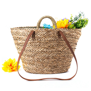 Straw+Polyester Bag Fashion Leisure Straw Bag Quality Craft Paper Holiday Weaving Handbag