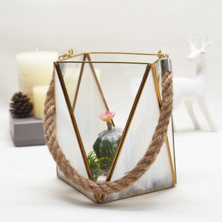Mercury Glass Candle Lantern
