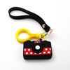 Wholesale Promotion Custom Logo 3d Fashion Pvc Plastic Ring Key Chain
