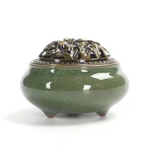Factory Directly Sale Colorful Portable Antique Aroma Fragance Ceramic Incense Oil Burners