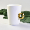 Ceramic Straight Body Mug Bone China Diamond Mug Custom Advertising Promotion Gift Ceramic Mug