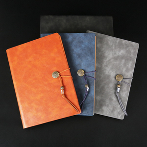 Academic A5 Logo Customized Pocket Notepad PU Leather Diary Journal Notebook