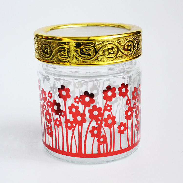 Fully Branded Glass Jar with Custom Label And Custom Color Cap