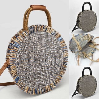 Newest Hot Straw Bag Summer Beach Rattan Handmade Tassel Shoulder Bags