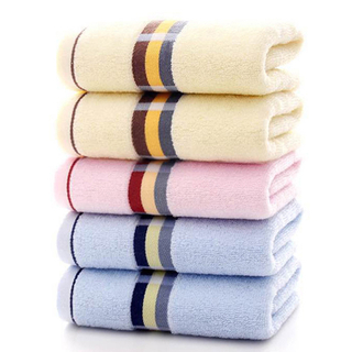 China Wholesale Cotton Home Bath Towel Face Towel 34x75,110gsm