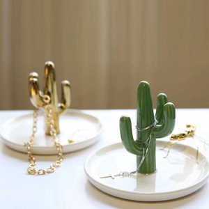 Home decoration ceramic jewelry display dish holder ceramic trinket ring dish