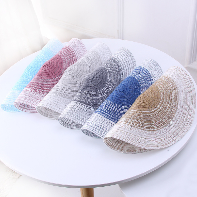 Japanese Style Round Shape Straw Weaving Cup Mat Coaster