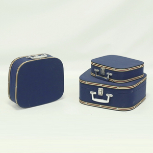 Wholesale Retro Decorative 3 Piece Sets Wooden MDF Vintage Style Luggage Suitcase