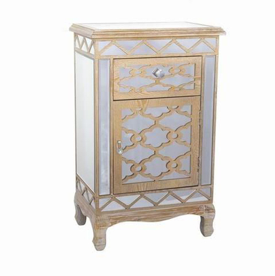 Best Quality Furniture Mirrored Dresser with Crystal Accents