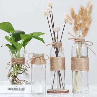 Handblown Elegant Decorative Flower Glass Vase for Wedding