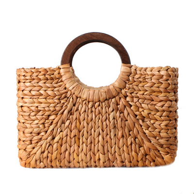 Women Vintage Rattan Handbag Female Bohemian Summer Beach Straw Bags