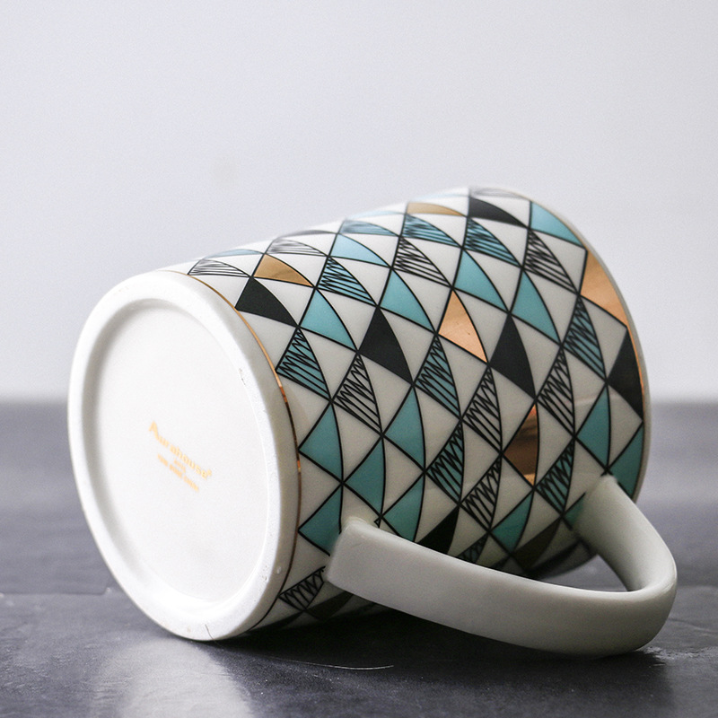 Matte Ceramic Mug Coffee Mug Milk Mug Geometric Triangle Mug