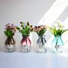 Tall Crystal Flower Decorative Glass Vase for Wedding