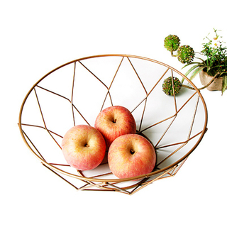 Fruit Basket Container Bowl Metal Wire Basket Rack Fruit Vegetable Storage Holder