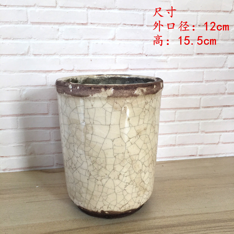 Customized round flower vase home decor cheap new model modern geometric ceramic flower pot
