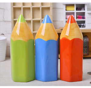 Pencil Design Ceramic Money Saving Box for Kids