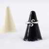 Colorful Handcraft Gold Decal Cone Design Decoration Ceramic Ring Holder