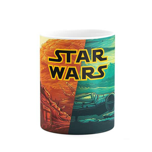 Star Wars Illustration Full Wrap Coffee Tea Mug Gift Printing Sublimation Ceramic Mug
