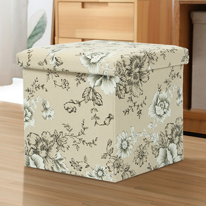 Home Furniture Colorful Foldable Kids Storage Box Ottoman Stool