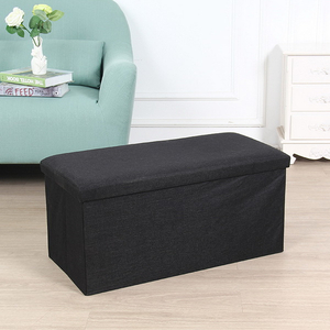 Colorful square wooden with PU leather/wool/linen fabric foot stool