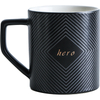 Ceramic Embossed Mug Coffee Mug Water Mug Breakfast Mug Black And White Embossed Mug