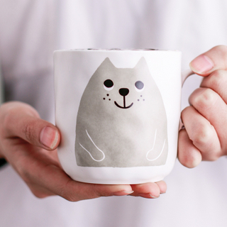Cartoon new bone China lovers mug coffee cup cup water cup Nordic style Persian cat mug