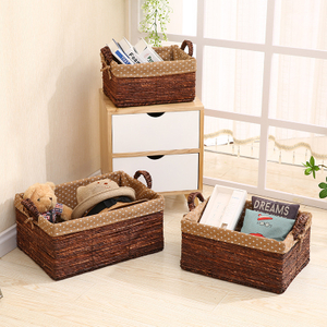 High Quality Best Selling Eco-friendly Set of Natural Weave Hyancinth Basket From Vietnam