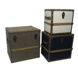 Handmade Wooden Storage Antique Reproduction Trunk
