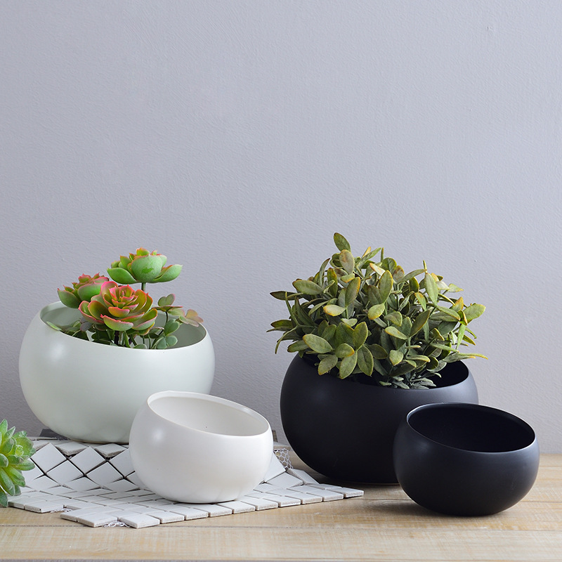 Hot new products straw plaited article handmade Ceramic Indoor Flower pot