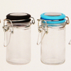 Straight Slide Clear Round Glass Jar for Weeds Herbs Skin Cream Mask Bottle with Black Matte