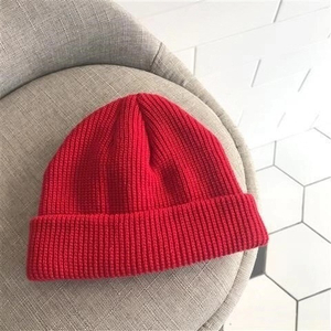 New Winter Hat Men Solid Color Knitting Wool Beanies Autumn Winter Warm Comfortable Hat