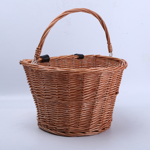 Eco-Friendly Willow Gift Storage Wicker Hamper Rattan Picnic Basket