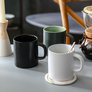 High Quality Wholesale Custom Marble Ceramic Coffee Cup Mug with Lid And Spoon